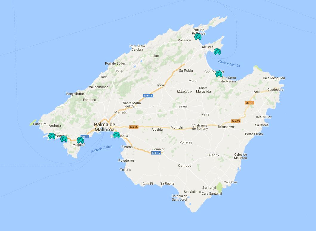 Mallorca Karte Paguera.Hundestrände Auf Mallorca Wo Ist Mein Vierbeiner Willkommen
